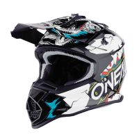 CASCO INFANTIL CROSS 2SRS VILLAIN BLANCO