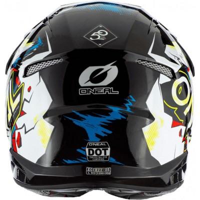 Casco cross O´neal 3SRS Helmet Villain 2.0 White (blanco)