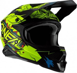 Casco de cross O´neal 3SRS Helmet Villain 2.0 Neon Yellow adulto