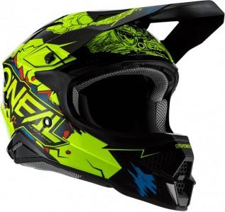 O´neal 3SRS Helmet Villain 2.0 Neon Yellow (amarillo)