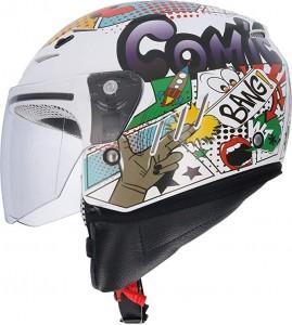 CASCO JET  BLANCO COMIC SHIRO-20