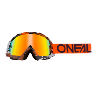 GAFAS MOTOCROSS ONEAL B-10 GOGGLE PIXEL ORANGE/WHITE - RADIUM