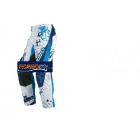 PANTALON CROSS INFANTIL HEBO COLOR AZUL /BLANCO HEBO