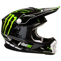CASCO MONSTER CROSS 712 NEGRO/VERDE
