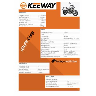 MOTO KEEWAY RKF 125 NEGRA
