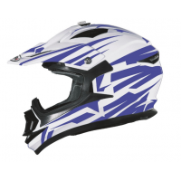CASCO CROSS SHIRO BRAVO MX734 AZUL/BLANCO