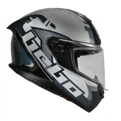 CASCO HEBO FACE INTEGRAL COLOR GRIS Y BLANCO HC3115