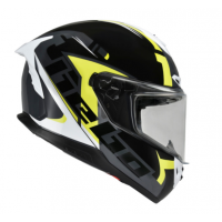 CASCO HEBO FACE INTEGRAL COLOR NEGRO Y AMARILLO