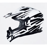 CASCO CROSS SHIRO BRAVO MX734 BLANCO/NEGRO