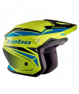 Casco YET trial Zone 5  VERDE LIMA