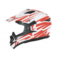 CASCO CROSS SHIRO BRAVO MX734 ROJO/BLANCO