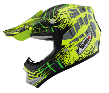 CASCO CRROS INFATIL SHIRO AMARILLO FLUOR- MX-306 BRIGADE KID