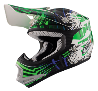 CASCO CRROS INFATIL SHIRO VERDE FLUOR- MX-306 BRIGADE KID