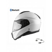 CASCO MODULAR HEBO FLIP UP HELMET TOURER MATT BLANCO BLUETOOTH