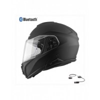 CASCO MODULAR HEBO FLIP UP HELMET TOURER MATT NEGRO BLUETOOTH