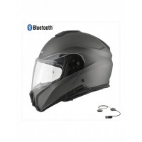 CASCO MODULAR HEBO FLIP UP HELMET TOURER MATT GRIS CON BLUETOOHT