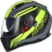 CASCO INTEGRAL SHIRO SH-881 SV MOTEGI II MATT BLACK FLUO AMARILLO