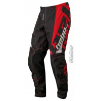 PANTALON ENDURO/CROSS COLOR NEGRO Y ROJO HEBO PHENIX
